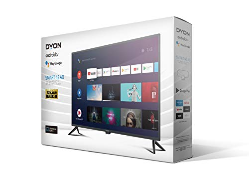 DYON Smart 42 AD 105,4 cm (42 Zoll) Fernseher (Full-HD, HD Triple Tuner, Google Play Store, Google Assistant, Prime Video, Netflix, BT-Fernbedienung mit Mikrofon) [Modelljahr 2021]
