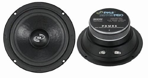 "6.5"" Car Audio Speaker Midrange - 300 Watt High Power Sealed Back Mid Range Speakers System w/ Paper Coating Cone, 200-5 kHz, 93 dB, 8Ohm, 30 oz Magnet,1 inch KAPTON Voice Coil - Pyle PDMR6"
