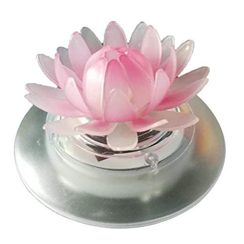 Tubayia Frosch/Lotus Solarlampe Schwimmende Solarleucht für Gartenpool Brunnen Teich Dekoration (Lotus)