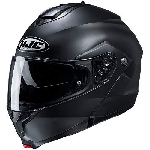 HJC Helmets C91 Men's Street Motorcycle Helmet - Semi-Flat Black/Large