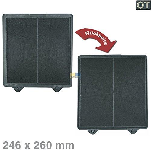 Bosch Siemens 00703134 703134 ORIGINAL Kohlefilter Aktivkohlefilter Filter Geruchsfilter eckig 246x260mm Dunstabzugshaube auch Zubehör AA260196 / Electrolux Juno AEG 50279032002 / Gaggenau AA260196