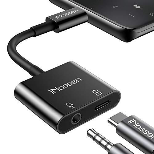 4-in-1 USB C Kopfhörer Adapter mit Ladebuchse für Schnellladen Typ C auf 3.5mm Klinke Adapter Aux Adapter für Samsung S20,S20+,S20 Ultra,Note 10+,iPad Pro 2020,Pixel 3/2XL,Huawei P20 P30 Moto Xiaomi
