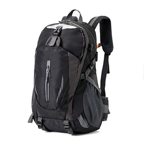 LTJLWB-backpack Sac à Dos RandonnéE en Nylon Voyage LéGer Voyage RéSistant à l'usure Grande Capacité ImperméAble à l'eau Anti-Vol ModèLes Hommes Et Femmes 45l Noir