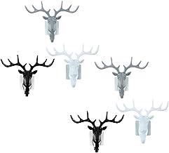 IMIKEYA 6Pcs Deer Head Wall Hook Stereoscopic Reindeer Shape Hook Wall Clothes Scarf Organizer Holder Hanger Hook for Home...