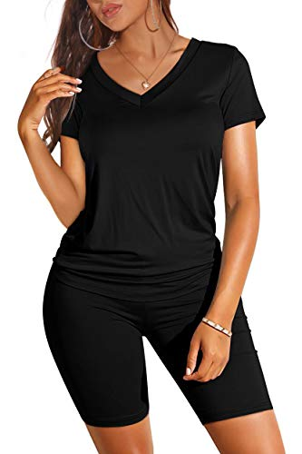 Womens Two Piece Outfits Sexy Summer Fashion Black Leggings Cozy L