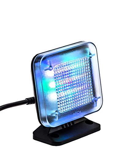 KOBERT GOODS – LED TV-Simulator, durch Lichtsimulation zum Einsatz als Einbruchschutz, Home-Security, Fernseh-Atrappe/Fake-Fernseher, mit 12 LED's und 3 wählbaren Programmen, Zeitschaltuhr