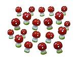 20 Fliegenpilze Figuren H 3 cm Glücksbringer Mini Pilze Tischdeko Dekofigur