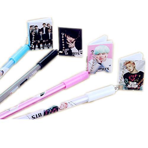 JinYu 4er Pack Kpop BTS Bangtan Jungen Kugelschreiber Gel Pen Support Army (4 colors B)