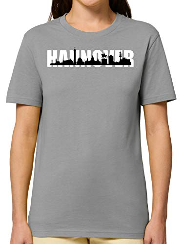 Bio T-Shirt - Stadt Hannover Skyline Waterloosäule - Tolles Geschenk Für Hannover Fans – Heimatstadt - Printed In Germany – 100{9eabe8dbd14961082a7feb2804d4e237ed0baf2c9e607789314ea0928e354747} Bio-Baumwolle
