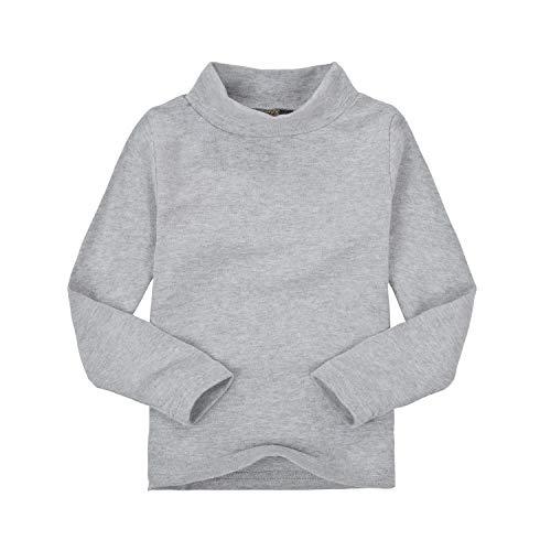 Mini eggs T Shirt Girls Boys Turtleneck Unisex Long Sleeve Tees 3 Years Toddler Gray