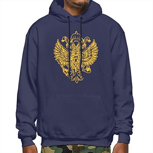 Men's Sweater Imperial Russian Eagle Quality Adult Pullover Hoodie Sweatshirt Apparel for Sweater Black T-Shirt
