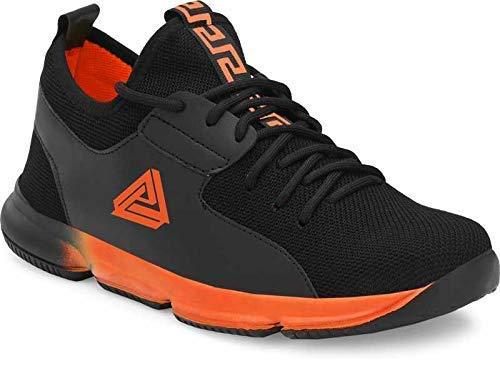 BADLAV Men's Black_Orange Running Walking Sneakers_7