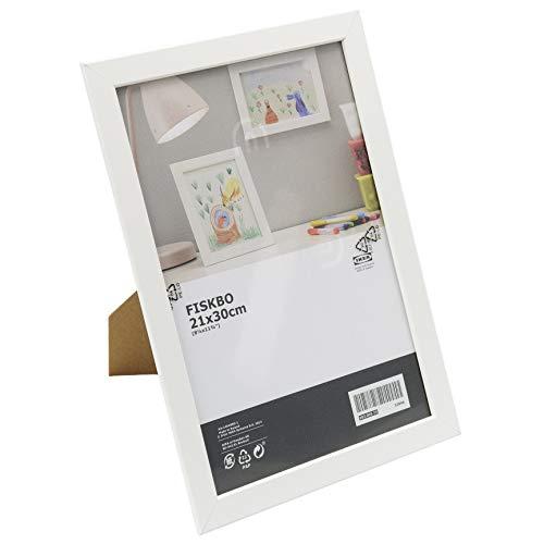 Ikea FISKBO - Marco de fotos (21 x 30 cm), color blanco