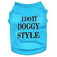LNLW ペット服犬Tシャツペットシャツ子犬服 (色 : 青, サイズ : L)