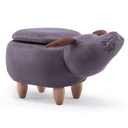 CKH Doek Art Kinderen Stoel Opslag Type Sofa Bank Schoen Veranderende Kruk Cartoon Dieren Voetbank