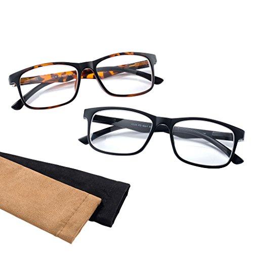 Bifokalbrille - Lesebrille FREEDOM mit Federscharnier und Einstecketui schwarz +2,50 dpt