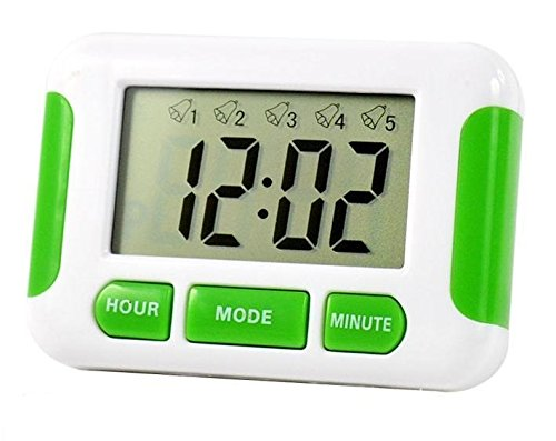 Digital-Uhr mit 5einstellbaren Alarmen, Stoppuhr, Erinnerungshilfe für Tabletten