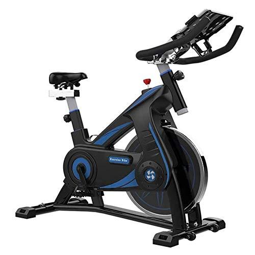Bicicleta estacionaria Bicicleta estática, bicicleta de ejercicios de resistencia magnética en 8 diferentes etapas con un manillar y asiento ajustables interior silencioso de bicicleta de ejercicios T