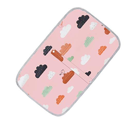 Centitenk Bebé Impermeable Plegable colchón Lavable con Cambiador para bebés niños para Cambiar pañales para Cama, Mat algodón de los niños de Dibujos Animados Reutilizable