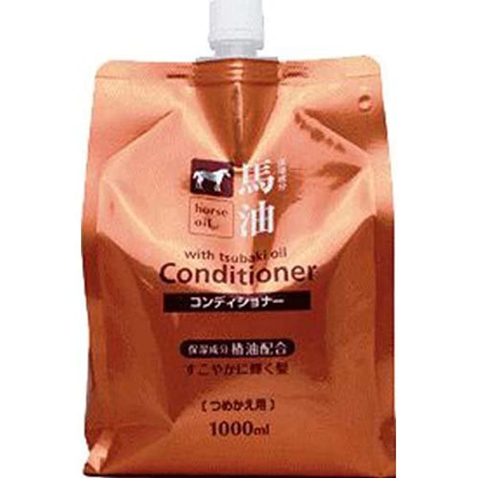 最小化する気分が良い思いやりのある熊野油脂 馬油コンディショナー つめかえ用 1000ml