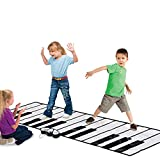 Baby Dance Piano Pad Floor Mat, Anti-Slip Wear Resistant Touch Large Play Game Blanket, Baby Early Education Toys for Children Kids Boys Girls,2.6m
