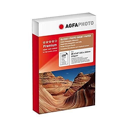 AgfaPhoto AP210100A6 Fotopapier 10 x 15 100 Blatt 210g glänzend