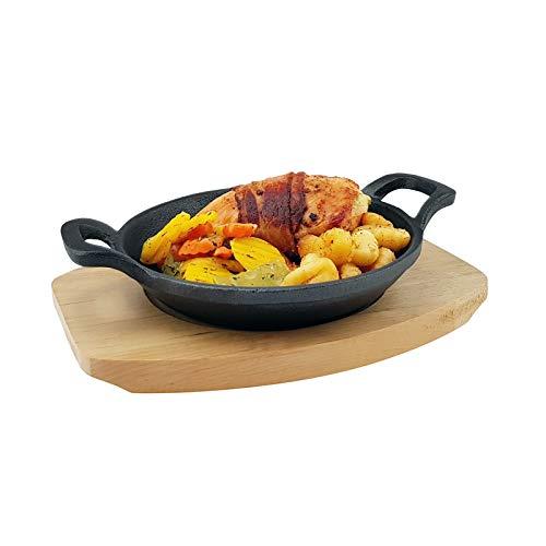 Hierro Fundido Carcasa con bandeja–Diferentes tamaños–Todos los tipos de cocina y Inducción–Sartén del Horno Gusseisen Schale 15 x 3 cm (ØxH)