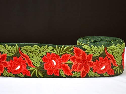 Venta al por mayor Bordado Trimmings Coser Artesanía Monederos Fronteras Accesorios Vestidos Decorativos Encaje Vestidos Cinta Rojo Saree Frontera