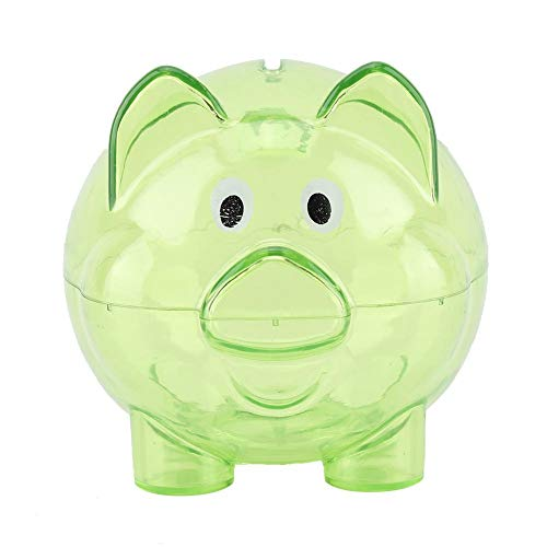 Cute Color Pig Pig Bank Birthday Gift Pig Bank Toy Pig Bank Toy Coin Money Cash Collectible Saving Box Kids Gift (Green)