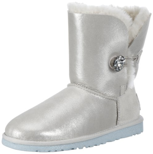 Hot Sale UGG Australia Women's Bailey Button I Do Boots, White, Size 9