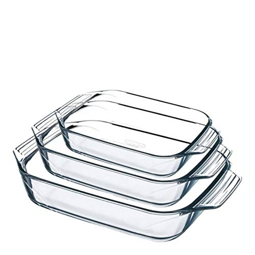 Pyrex Set of 3 Rectangular Roaster Set