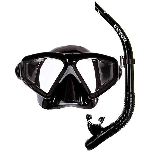 Kit de Mergulho Máscara+respirador Cetus New Parma Fun - Preto/preto