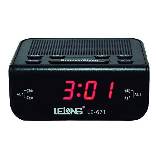 Radio Relógio Lelong LE 671 - Acompanha manual de instruções