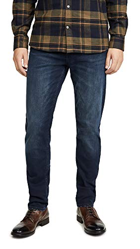 Calvin Klein Men's Slim Fit Jeans, Boston Blue/Black, 34W x 32L