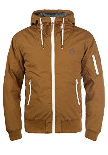 !Solid Tilly Herren Übergangsjacke Herrenjacke Jacke gefüttert mit Kapuze, Größe:XL, Farbe:Cinnamon (5056)