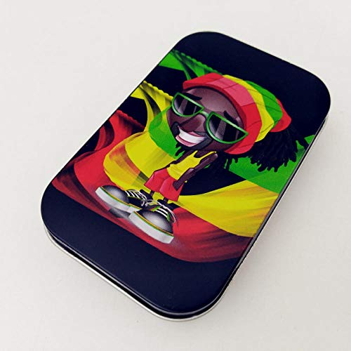 WSS Shoes Caja de Cigarrillo 1pcs Moda de estaño de Almacenamiento de Caja Tabaco humidor Papel de balanceo Cuadro Caso de Cigarrillos Cuadro Titular-3_China (Color : 3)