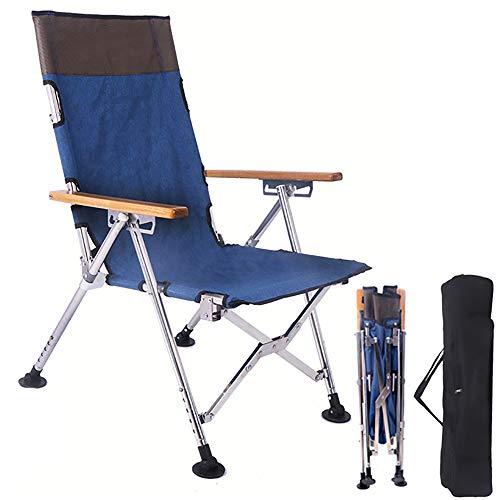 DOLA opvouwbare visstoel, comfortabele en verstelbare strandligstoel met helling verstelbare uitschuifbare benen voor kampeerbarbecue