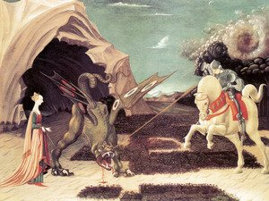 Saint George And The Dragon-Paolo Uccello - CANVAS OR PRINT WALL ART