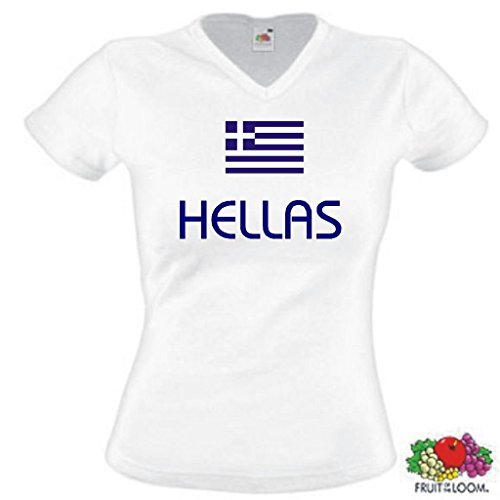 Fruit of the Loom Hellas/Griechenland Damen T-Shirt WM 2014 Trikot|s