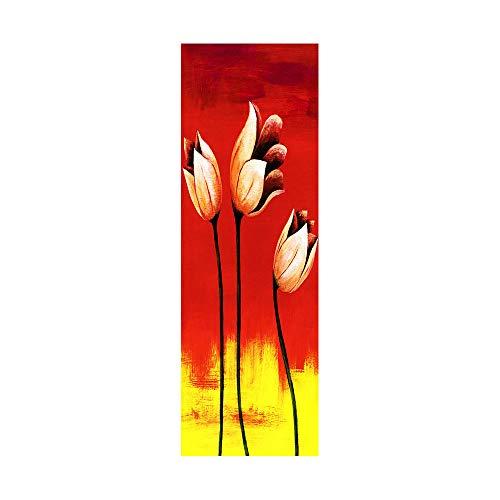 Pegatinas de nevera para cubrir puertas completas 3D Golden Tulip Autoadhesivo para puerta de frigorífico vinilo profesional, 60 x 180 cm (1 unidad)
