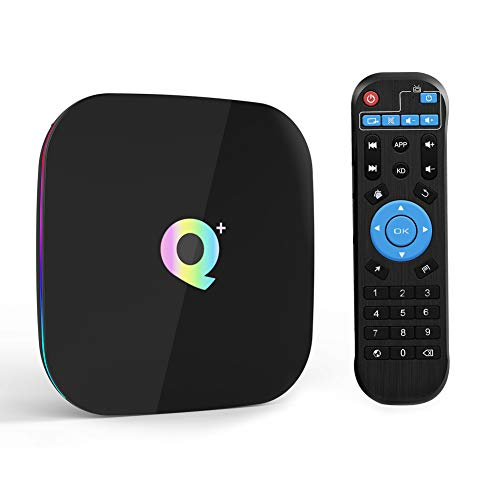 Android 9.0 TV Box, Q Plus 2GB RAM 16GB ROM Allwinner H6 Quad-Core ARM Corter-A53 CPU Mali T720-GPU 4K 6K Auflösung 2.4GHz WiFi 100M LAN Enternet USB 3.0 Smart Box