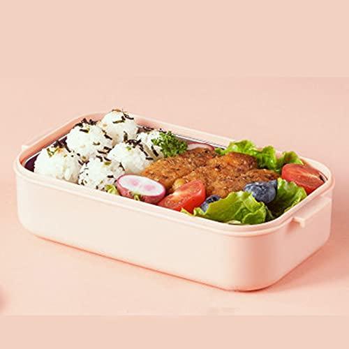 GXGX Mess - Fiambrera japonesa de estaño Bento para almuerzo, caja de almuerzo para adultos y alimentos, sin sabor, color rosa