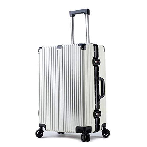 AHJSN - Maleta de Mano de 20 Quartos; Bolso de Mano en la Cabina, Maleta de plástico ABS Ultraligera, Maletas de 4 Ruedas, Carro de Viaje (Color Blanco; 20 quillas).