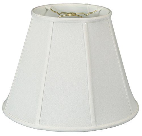 Royal Designs DBS-707-20LNWH Deep Empire Lamp Shade Linen White 10 x 20 x 15