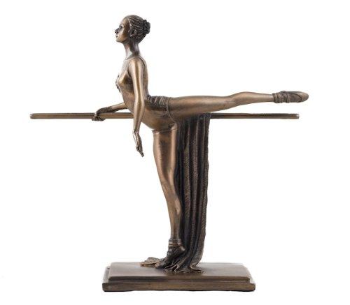 Art Deco Bronze Ballet Figurine Sculpture Ballerina by O Tupton