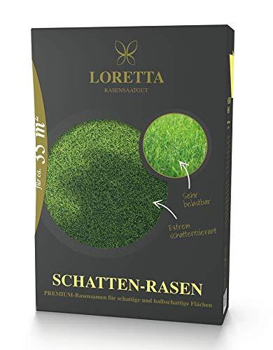Loretta Schatten-Rasen Premiumrasensaat mit poa supina 0,6kg für ca 35m²