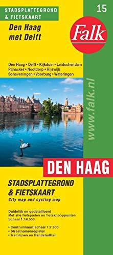 Falk stadsplattegrond & fietskaart Den Haag: met Delft