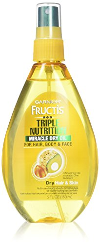 Garnier Fructis Haircare Triple Nutrition Miracle Dry Oil for Hair, Body, & Face 5 oz (Pack of 2)