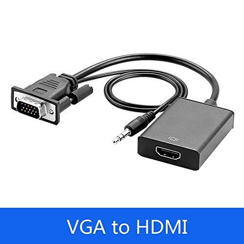 RONSHIN CE VGA Mannelijke naar HDMI Vrouwelijke Adapter Converter Kabel Met 3,5 mm Audio Output 1080P VGA naar HDMI voor PC laptop naar HDTV Projector PS4