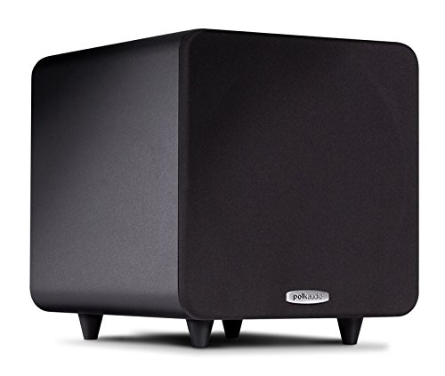 Polk Audio PSW111 Compact Powered 8' Subwoofer | Up to 300 Watt Amp | Stylish Looks, Big Bass at Great Value | Easy Integration with Home Theater Systems